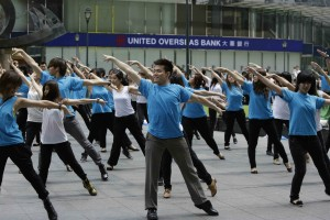 Dance Flash Mob Shiseido a Siingapore