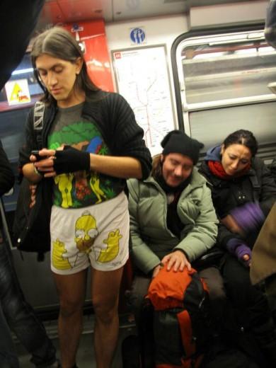 Tutti in metro e..in mutande! La moda di New York arriva in Italia