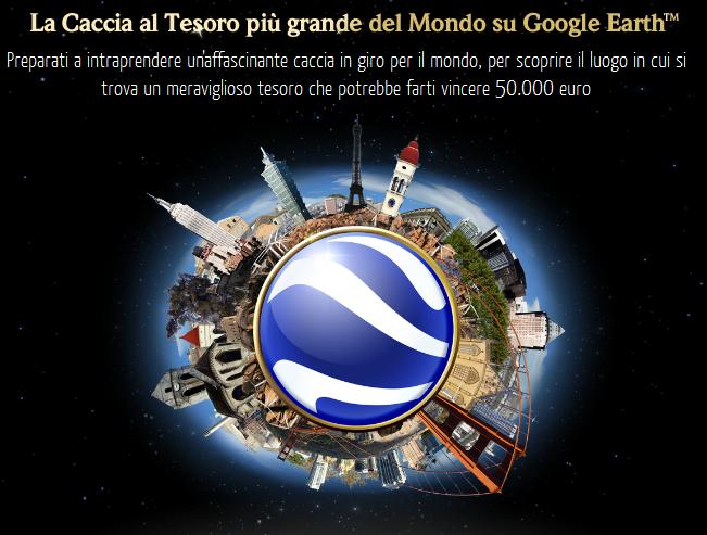 La caccia al tesoro più grande del mondo di gioca su Google Earth