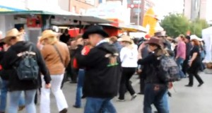 country dance flash mob