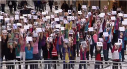 I believe she's amazing, flash mob per ricordare una persona speciale