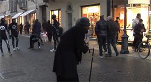 Unconventional action ad Alessandria firmata Flash Mob Milano